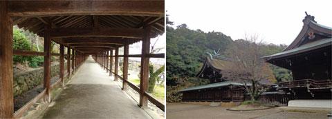 吉備津神社回廊、吉備津彦神社