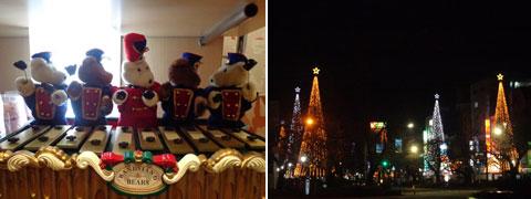 クリスマスシーズンの国立