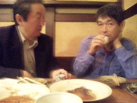右 川北先生、左 小林専務理事