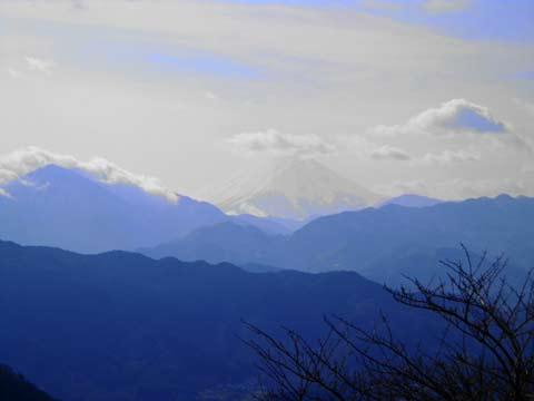 高尾山からみる富士