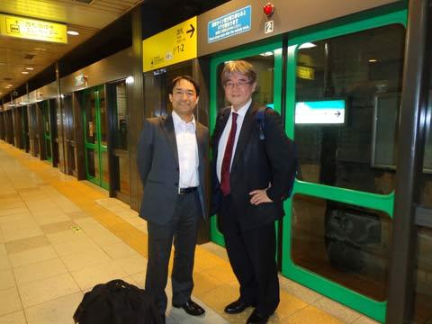 愛知学泉大学の馬場英朗先生(左)