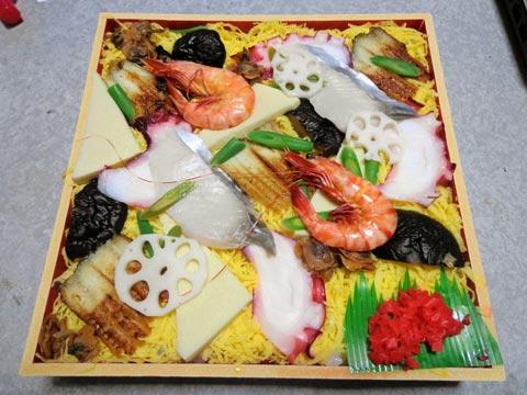 総社商工会議所で頂いた祭り寿司