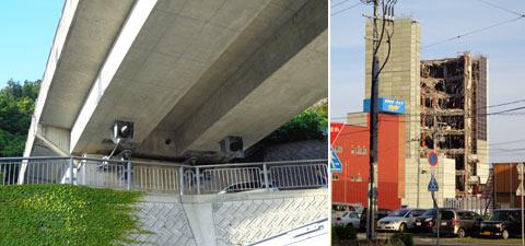 道路の耐震装置