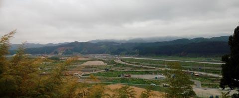 陸前高田第一中学から見た市内