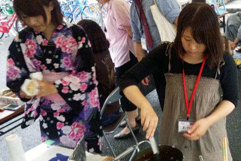 岡山大学「七夕祭」アイスの天ぷら
