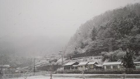 岡山県新見市の雪景色(2014年3月6日)