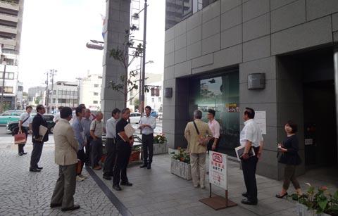 真庭商工会御一行さま岡山市中心市街地視察