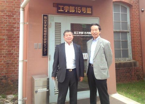 津田様と伊藤直人地域総合研究センターアドバイザー