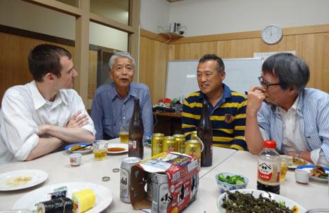 新庄村の夜に乾杯