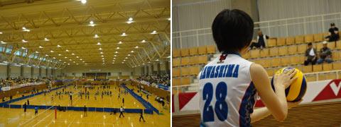 Vサマーリーグ女子大会・西部大会でボランティア