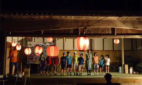 上山集楽「上山神社盆踊り2015」
