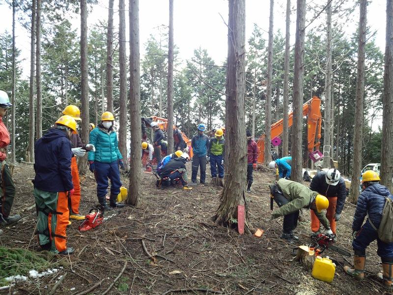 新見市神郷地区「平成27年度後期 環境保全型森林ボランティア活動」
