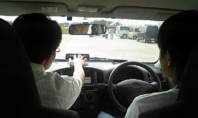 エコドライブへの学生参加風景