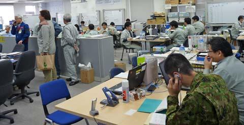 災害対策本部の様子「東日本大震災現地調査」