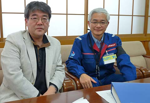 局長室にて「東日本大震災現地調査」