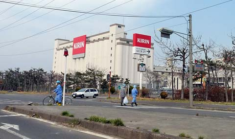 被災したキリンビール仙台工場「東日本大震災現地調査」
