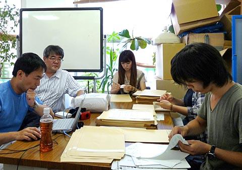 授業の前のボランティア活動